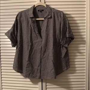 Madewell gingham collared button back shirt